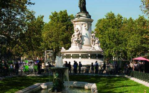 The Place de la République, a friendly and fun place