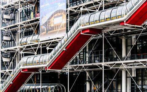 Contemporary art is celebrated at the Pompidou Centre